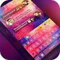 Keyboard -Boto:Colorful Galaxy icon