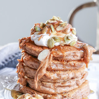 Vegan Sweet Potato Pancakes.