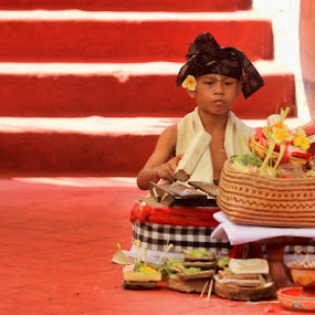 Gamelan -  traditional music in bali by Chusnul Hidayat - People Musicians & Entertainers