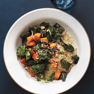 Quinoa With Sweet Potatoes, Kale, and Pesto