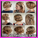 1000+ Girls Hairstyle Step by Step icon