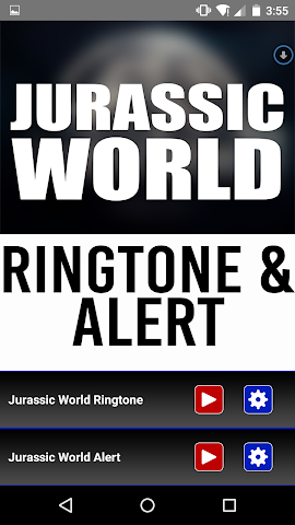android Jurassic World Ringtone Alert Screenshot 0