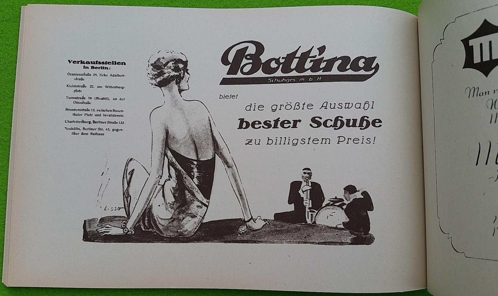 Begleitheft zur Eröffnung von Haus Vaterland am Potsdamer Platz, Berlin, 31. August 1928 - Bottina Schuhe