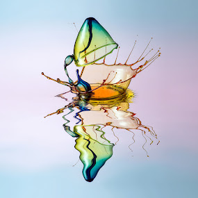 Rescue by Markus Reugels - Abstract Water Drops & Splashes ( markus reugels, liquid art, water drop )