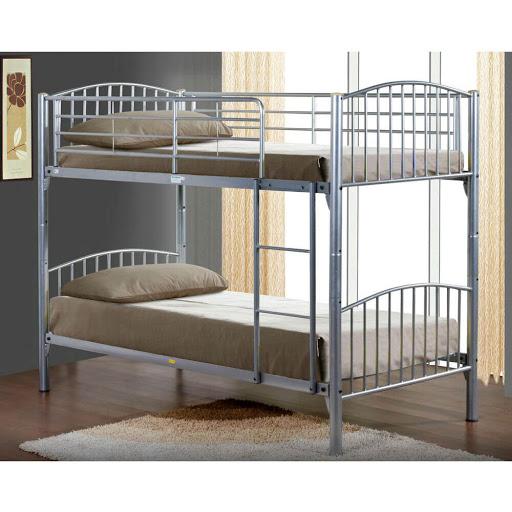 Birlea Corfu Bunk Bed Silver