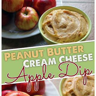 Our Favorite Peanut Butter Cream Cheese Apple Dip.