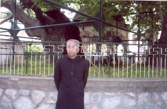 Photo: Prof. Hakim Syed Zillur Rahman standing infront of Hippocratic Tree (Platanos) at Kos Island (Greece)