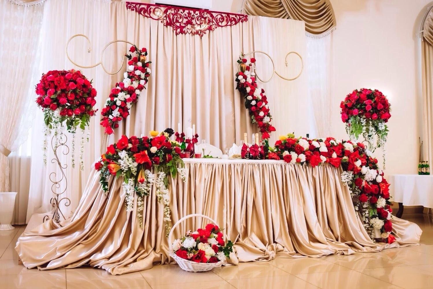 В картинках оформление зала на свадьбу