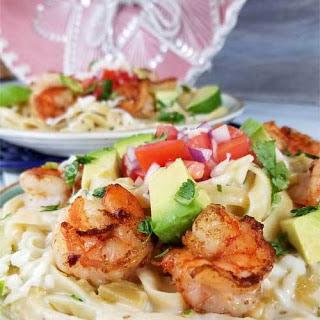 Creamy Mexican Shrimp Pasta.