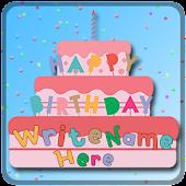 Tải Game Name On Happy Birthday Cake