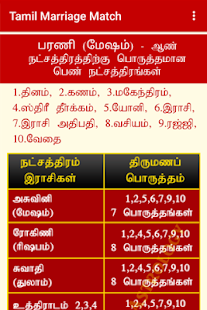 Match making for marriage in tamil