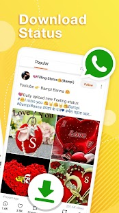 Helo Lite - Download Share WhatsApp Status Videos Screenshot