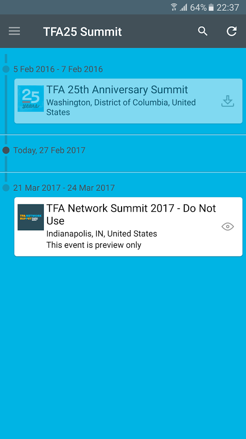 TFA 25th Anniversary Summit- screenshot
