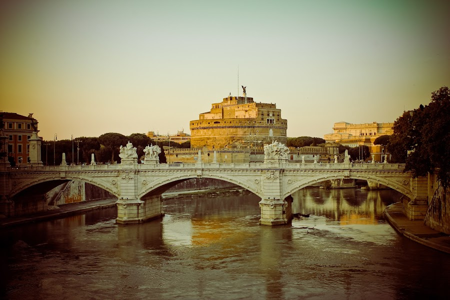 Castel sant'Angelo by Gihan Peries - Travel Locations Landmarks ( rome, castel sant'angelo, travel, italy )