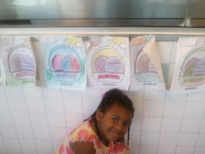Photo: Kaleya and the egg she colored at Krispy Kreme 4/2/12