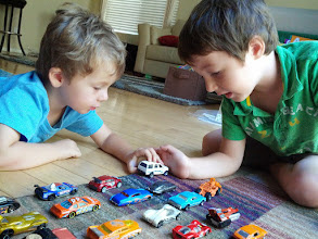 Photo: Clark and Finn Count Hot Wheels