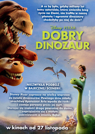 Tył ulotki filmu 'Dobry Dinozaur'