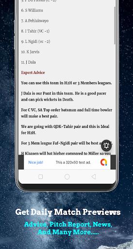 Dream11 Guruu2122 - Dream11 Prediction & Tips 1.5 screenshots 2