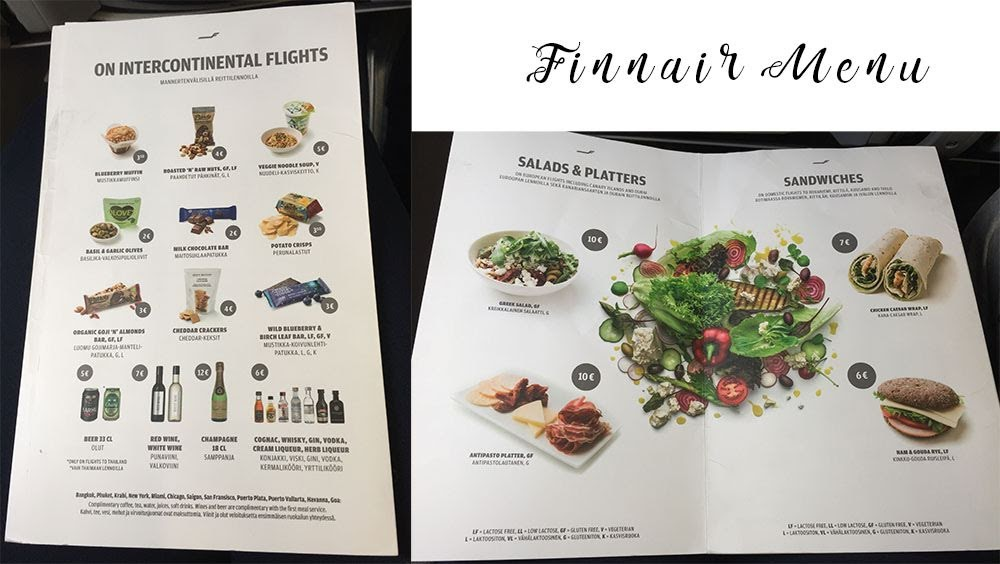 Finnair Menu