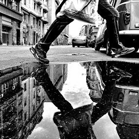 Jump by Zoran Nikolic - City,  Street & Park  Street Scenes ( street, jump )
