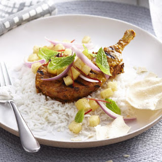 Indian Pork Chops with Pineapple Relish