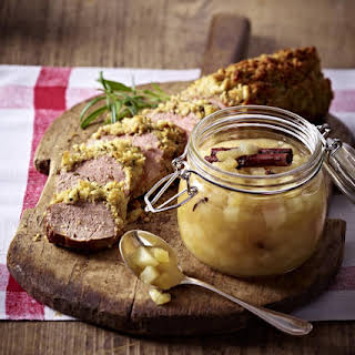 Pork Tenderloin with Ginger and Pear Chutney.