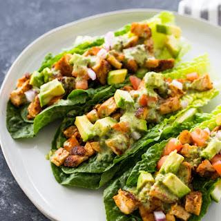 Chicken Taco Lettuce Wraps (Healthy, Low-carb, Keto).