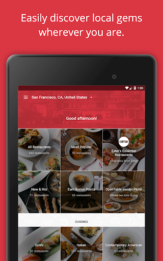 OpenTable: Restaurants Near Me app (apk) free download for Android/PC/Windows screenshot