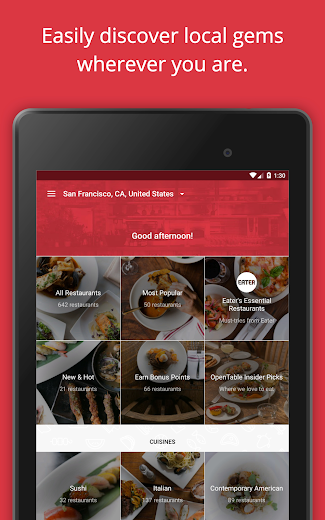 Screenshot 13 for OpenTable's Android app'