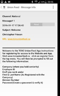 TCRC Union Feed- screenshot thumbnail