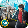 Angry Wolf City Attack Sim icon