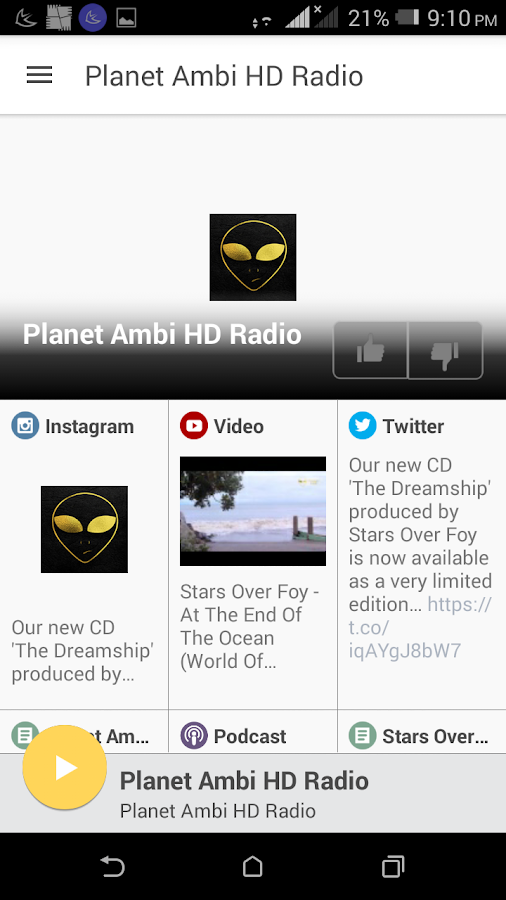 Planet Ambi HD Radio- screenshot
