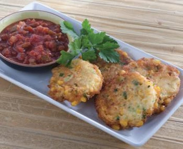 Corn Fritters With Salsa Recipe