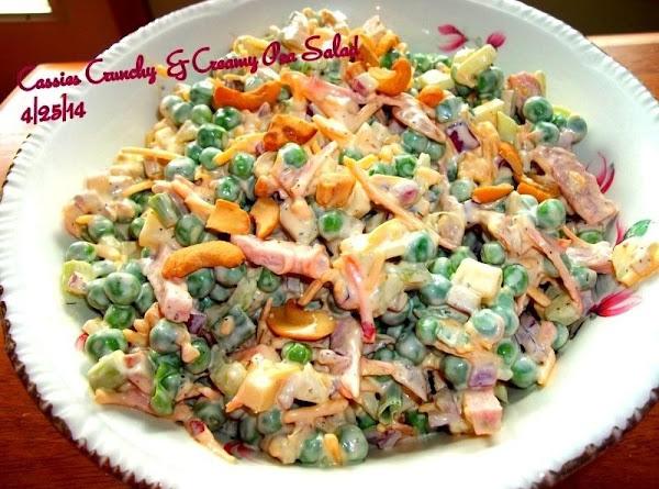 Cassies Crunchy & Creamy Pea Salad Recipe