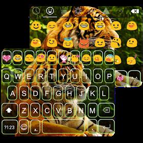 Wild Tiger Emoji Keyboard Skin