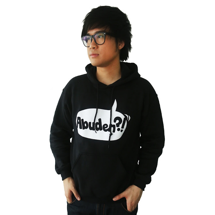 [MEDIUM] ABUDEN?! HOODIE - UNISEX BLACK by JinnyboyTV
