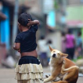 Mirror Act by Debatosh Chakraborti - Babies & Children Children Candids ( babies, nature, travel, street photo, people, baby, cute baby, cute )