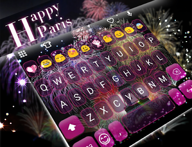 Happy Paris Emoji Keyboard screenshot 4