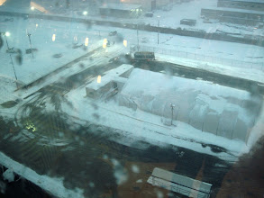 Photo: Snow all over the pier area-from the Windjammer