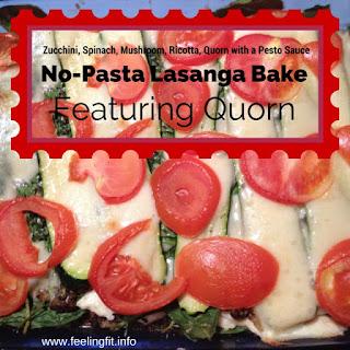 Pesto Zucchini No-Pasta Lasagna Bake Featuring Quorn