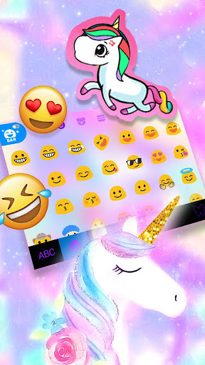 Pastel Unicorn Dream Keyboard Theme 1.0 3