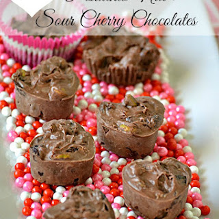 Slow Cooker Pistachio Nut and Sour Cherry Chocolates