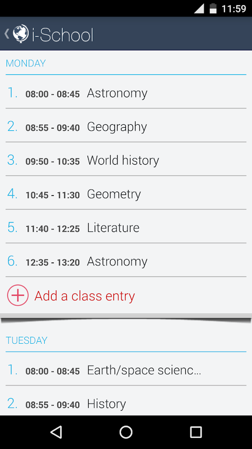 iSchool- screenshot