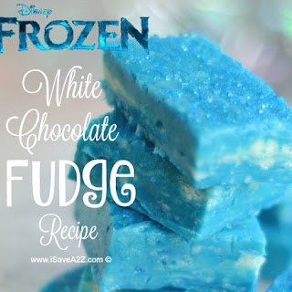 Disney's Frozen Inspired White Chocolate Fudge