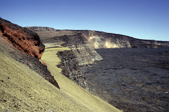 Photo: Here's the view from the 1949 Cone toward the summit, taken back in 1981 on my first Mauna Loa trip.