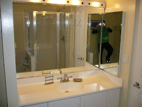 Photo: Bathroom vanity - do not mind the man in the mirror