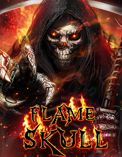 Flaming Grim Reaper Live Wallpaper by 3D Theme & HD Live