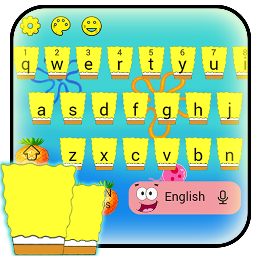 Yellow Cartoon Keyboard Theme