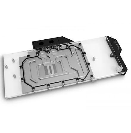EK vannblokk for skjermkort, EK-Quantum Vector Trio RTX 3080/3090 D-RGB - Nickel + Plexi