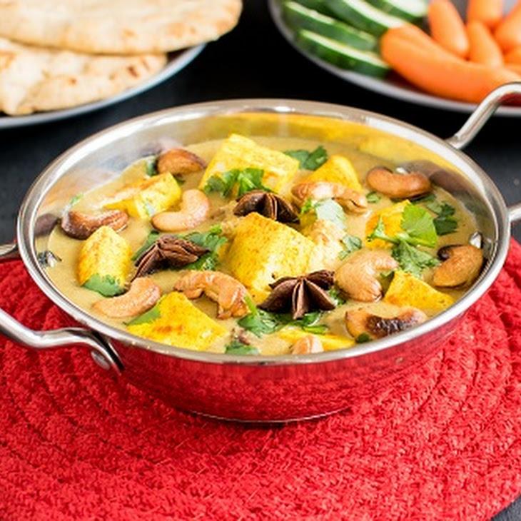 Turmeric Tofu Cashew Curry Recipe